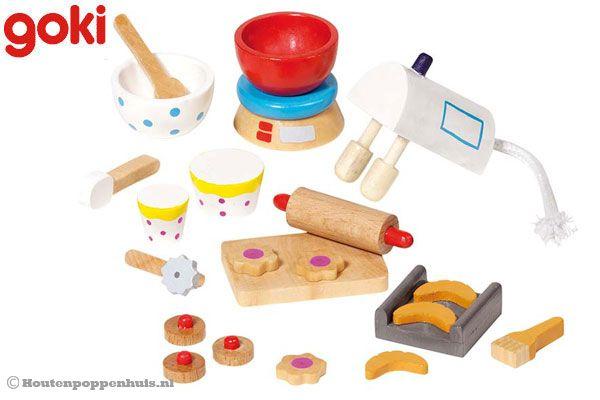 Kinderkeuken accessoires hout