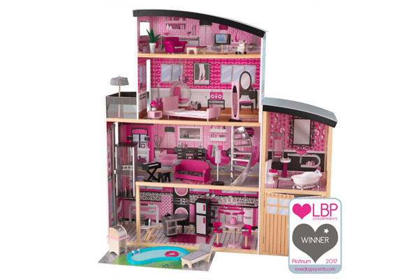 Sparkle Mansion Barbiehuis van Kidkraft.
