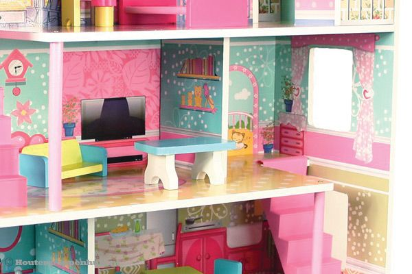 Woodtoys poppenhuis deluxe for Gezellige woonkamer